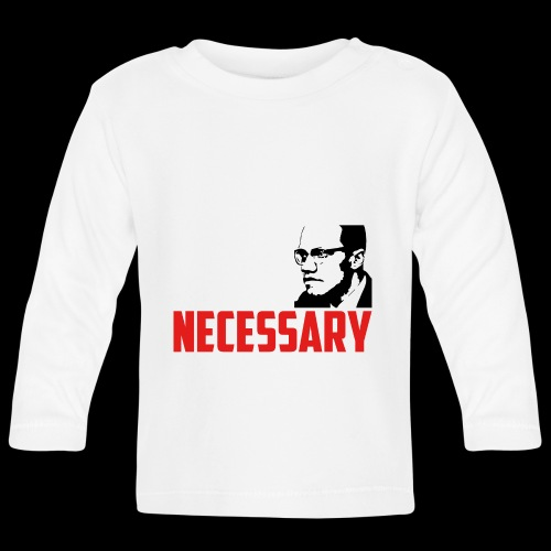 BY ANY MEANS NECESSARY - Malcom X - Baby Langarmshirt