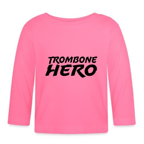Trombone Hero - Langarmet baby-T-skjorte