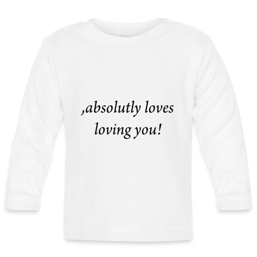 absolutly loves loving - Vauvan pitkähihainen paita