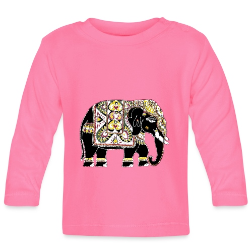 Indian elephant for luck - Baby Long Sleeve T-Shirt
