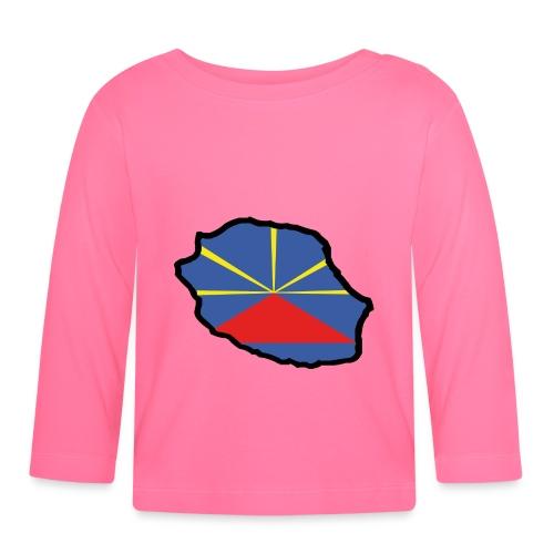 974 - Drapeau Lo Mahaveli - T-shirt manches longues Bébé