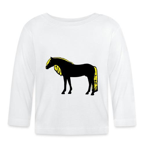 Haflinger Silhouette - Baby Langarmshirt
