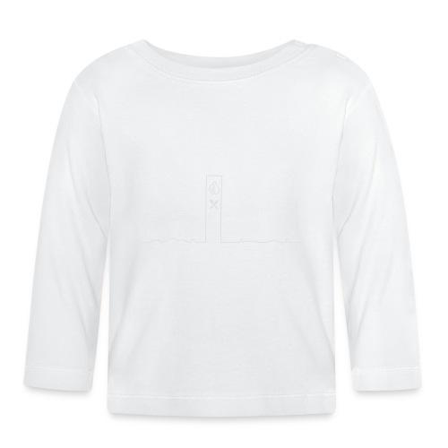 pikkuskyline_white - Vauvan pitkähihainen paita