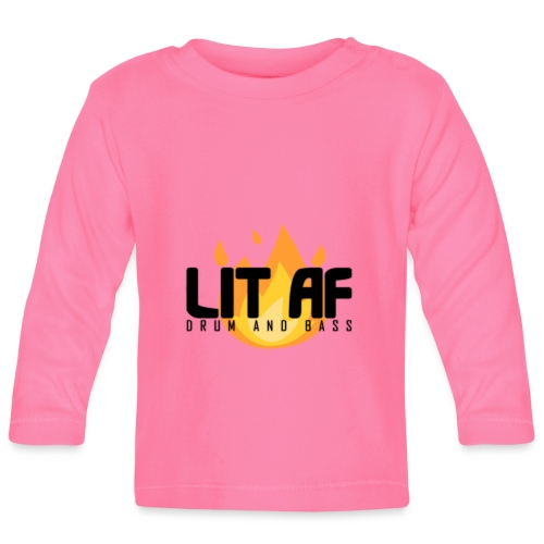 LIT AF Drum and Bass - Baby Langarmshirt