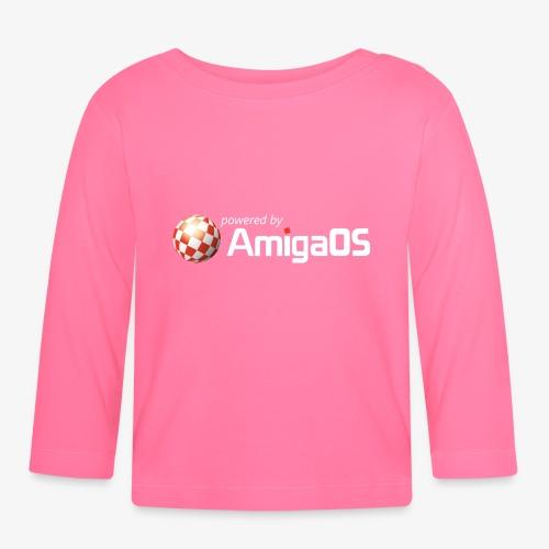 PoweredByAmigaOS white - Baby Long Sleeve T-Shirt