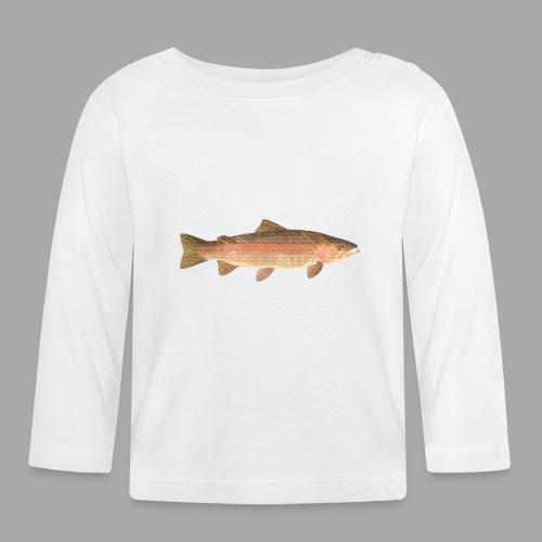 low-polygon-trout art.png - Vauvan pitkähihainen paita