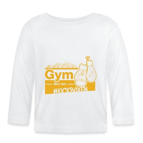 Gym Druckfarbe Orange - Baby Langarmshirt