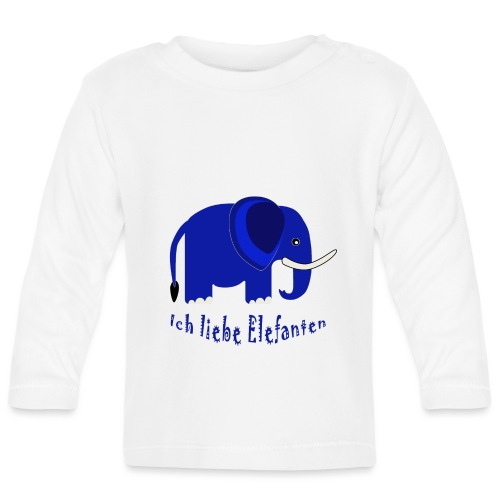Ich liebe Elefanten (für Kinder) - Baby Langarmshirt