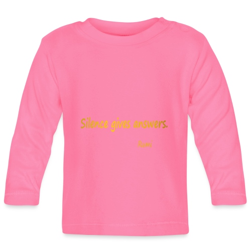 Silence - Baby Long Sleeve T-Shirt