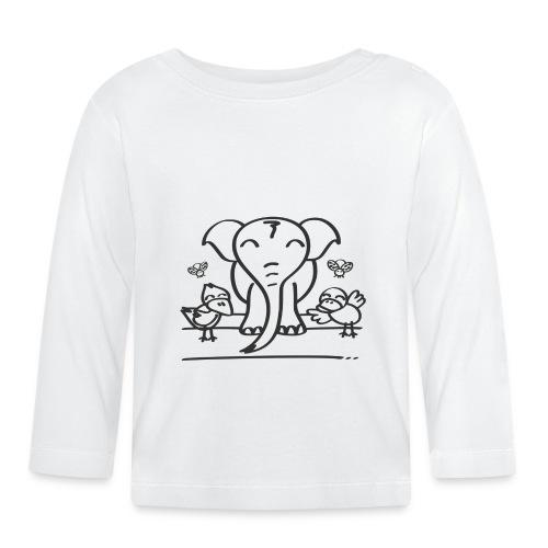 78 elephant - Baby Langarmshirt