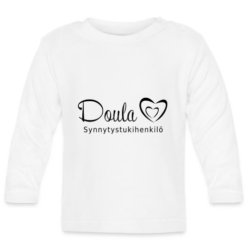 doula sydämet synnytystukihenkilö - Vauvan pitkähihainen paita
