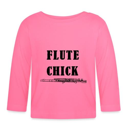 Flute Chick - Langarmet baby-T-skjorte