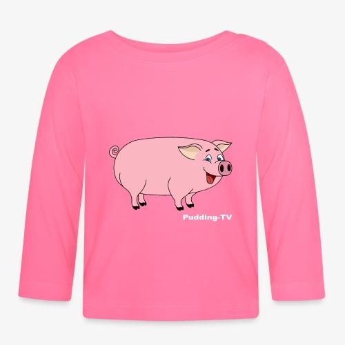 Gris - Langarmet baby-T-skjorte