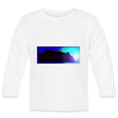 Silhouette of Edinburgh Castle - Baby Long Sleeve T-Shirt
