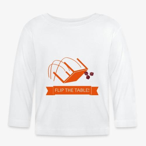 Flip the table! - Langarmet baby-T-skjorte