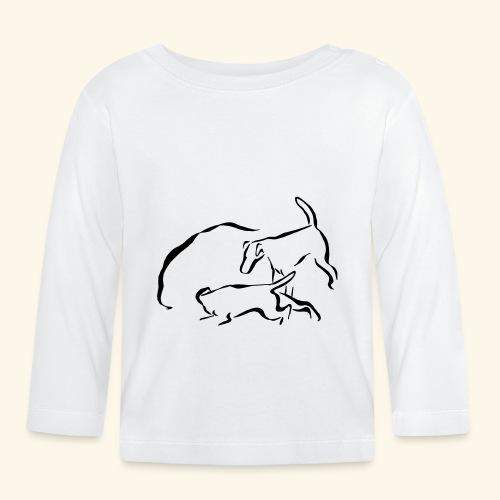 Foxit - musta - Vauvan pitkähihainen paita