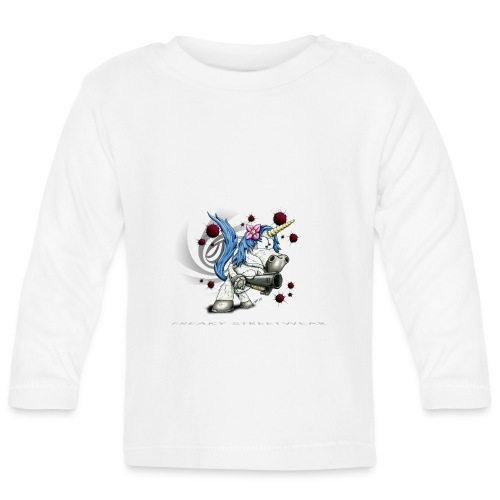 Don't mess with the unicorn - Baby Langarmshirt