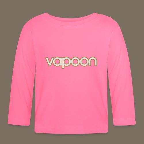 Vapoon Logo simpel 2 Farb - Baby Langarmshirt