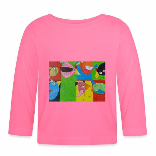 Lovebirds - Liebesvögel - Baby Langarmshirt