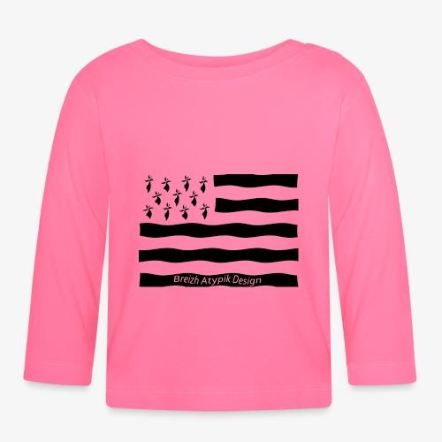 Gwenn ha Du-Noir fond transparent - T-shirt manches longues Bébé