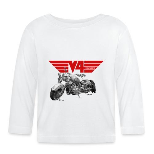 V4 Motorcycles red Wings - Baby Langarmshirt