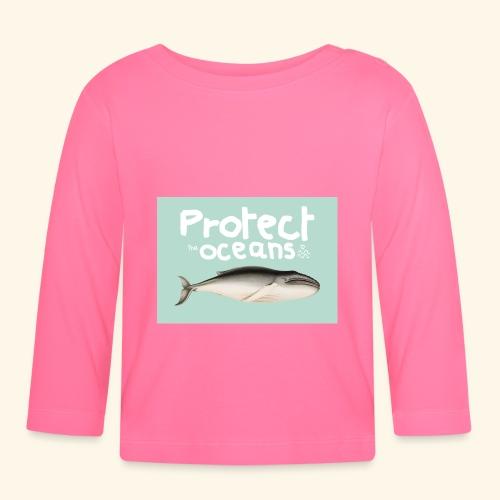 Protect the oceans - T-shirt manches longues Bébé
