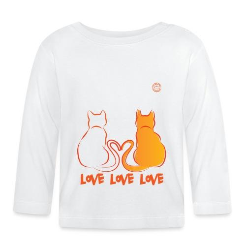 The Red Twins LOVE LOVE LOVE - Maglietta a manica lunga per bambini