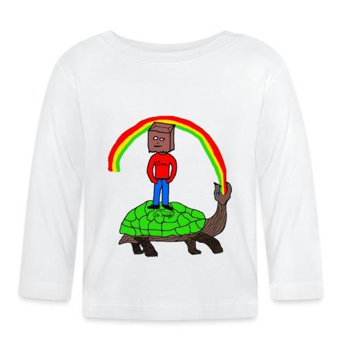 schildkröte Schildkröte Regenbogen - Baby Langarmshirt