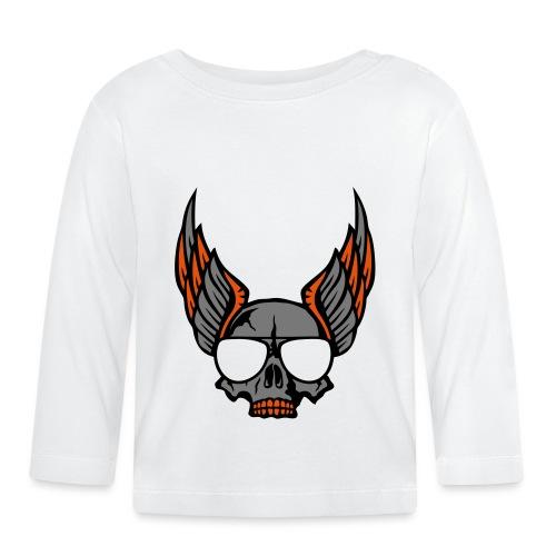 tete mort aile lunette skull aille 1206 - T-shirt manches longues Bébé
