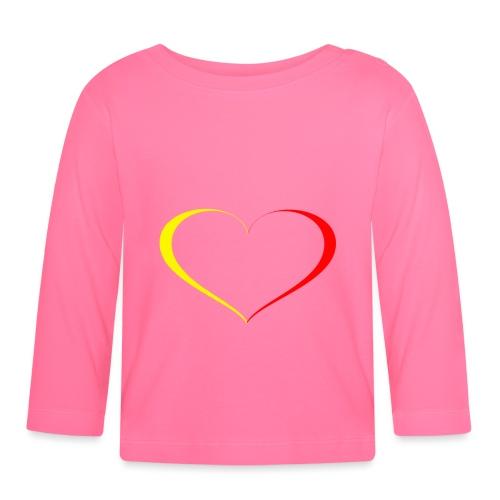 cuore giallorosso - Maglietta a manica lunga per bambini