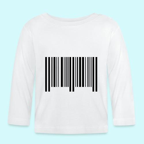 barcode - schwarz - Baby Langarmshirt