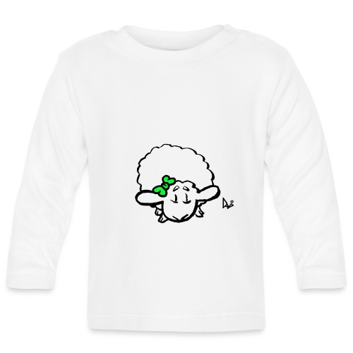 Bébé agneau (vert) - T-shirt manches longues Bébé