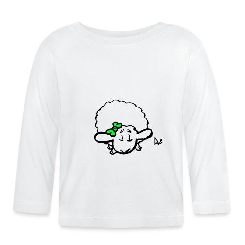 Corderito (verde) - Camiseta manga larga bebé