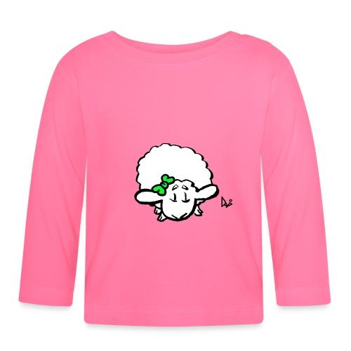 Baby Lamb (zielony) - Koszulka niemowlęca z długim rękawem