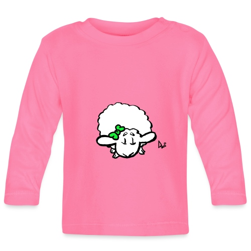 Baby Lamm (grün) - Baby Langarmshirt