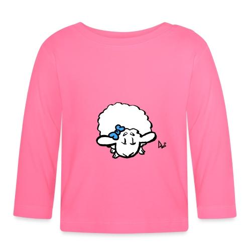 Baby Lamm (blau) - Baby Langarmshirt