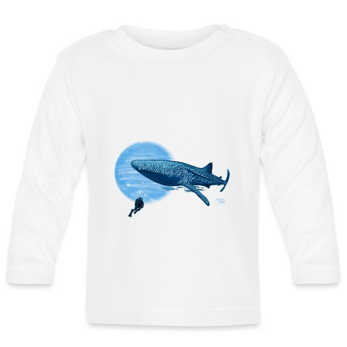 Walvishaai en duiker - T-shirt manches longues Bébé