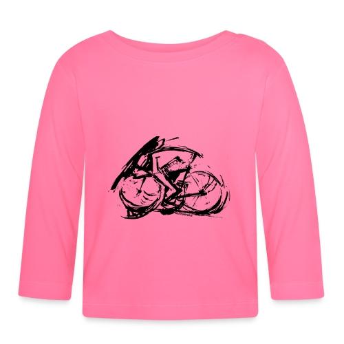futuristischer radfahrer - Baby Langarmshirt