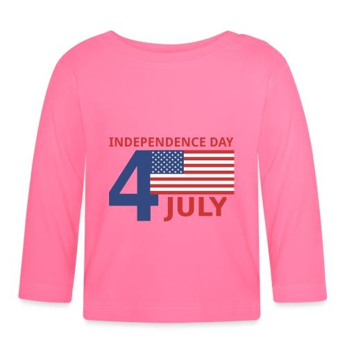 4 luglio giorno della indipendenza - Maglietta a manica lunga per bambini