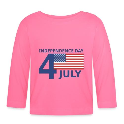 4th of July. 4 luglio - Maglietta a manica lunga per bambini