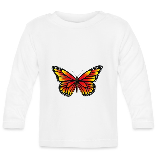 Sommerfugl - Langærmet babyshirt