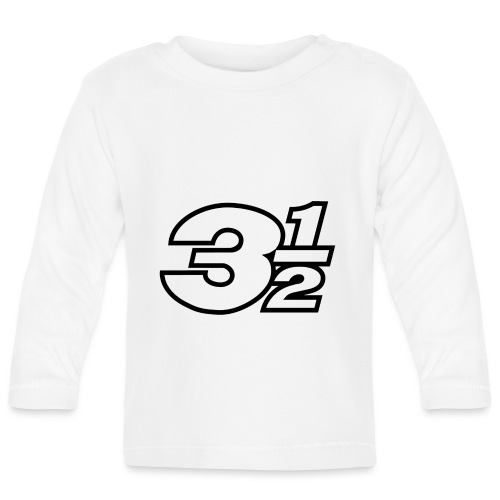 Three and a Half Logo - Baby Long Sleeve T-Shirt