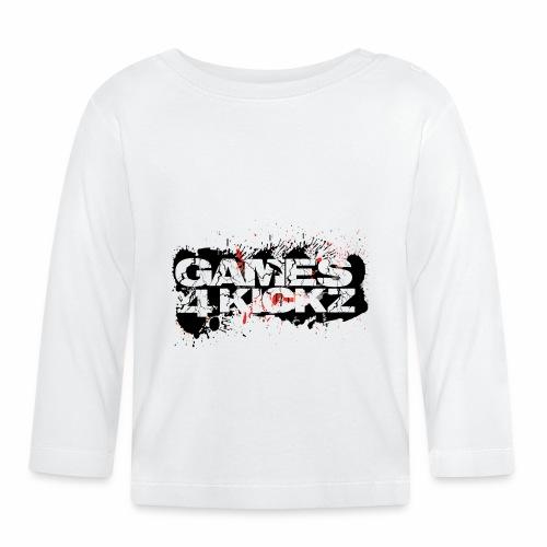 Games4Kickz Logo Splattered Background - Baby Long Sleeve T-Shirt