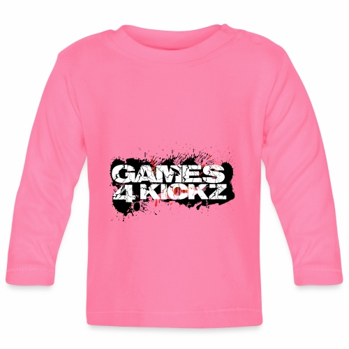 Games4Kickz Logo Splattered Background - Baby Long Sleeve T-Shirt