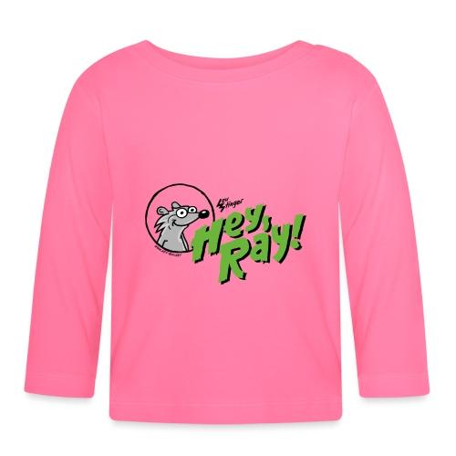 Hey Ray Logo green - Baby Langarmshirt