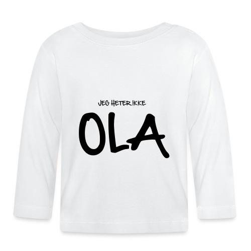 Jeg heter ikke Ola (fra Det norske plagg) - Langarmet baby-T-skjorte