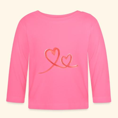 Duo Cœur Main levée - Saint Valentin - T-shirt manches longues Bébé
