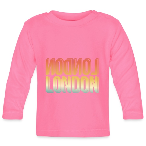 London Souvenir England Simple Name London - Baby Langarmshirt