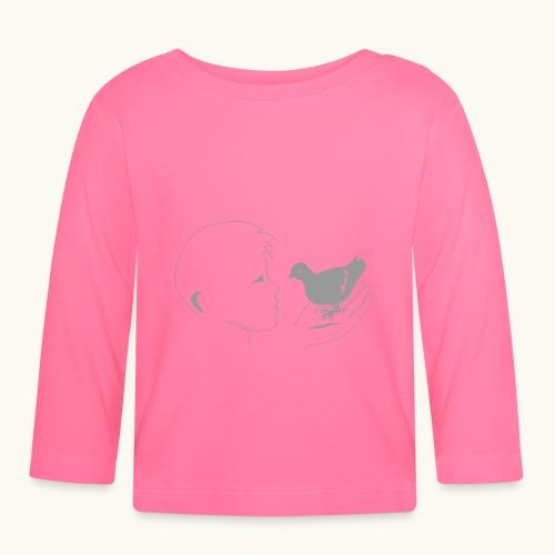 Pigeon garçon Drôle amour animalier oiseau cadeau - T-shirt manches longues Bébé