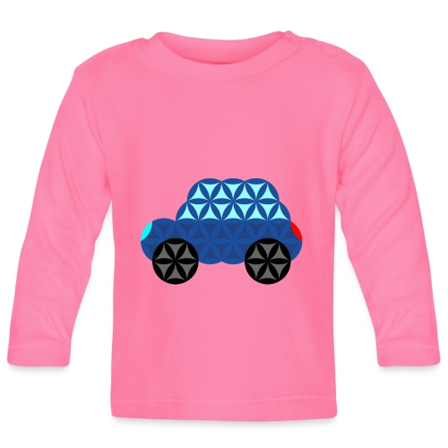 The Car Of Life - M02, Sacred Shapes, Blue/286 - Baby Long Sleeve T-Shirt